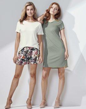 Essenza Loreen Striped Nightdress short sleeve Laurel green S