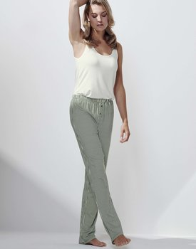 Essenza Lindsey Striped Trousers Long Laurel green M