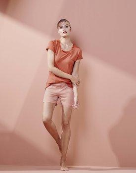 Essenza Natalie Striped Trousers short Ginger L