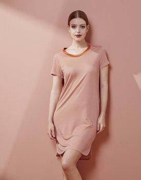Essenza Loreen Striped Nightdress short sleeve Ginger S