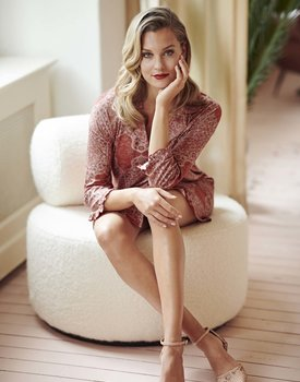 Essenza Erin Giulia Nightdress 3/4 sleeve Rose L