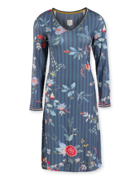 Pip Studio Danai Night Dress Flower Festival Dark Blue M