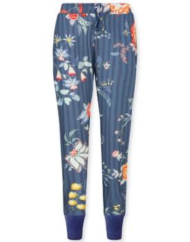 Pip Studio Bobien Long Trousers Flower Festival Dark Blue XL