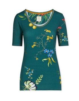Pip Studio Tjess Short Sleeve Fleur Grandeur Green M
