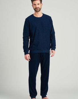 Schiesser heren pyjama lang 175603 nightblue