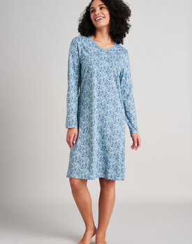 Schiesser nachthemd 175566 dames light blue