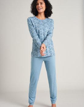 Schiesser damespyjama 175568 light blue