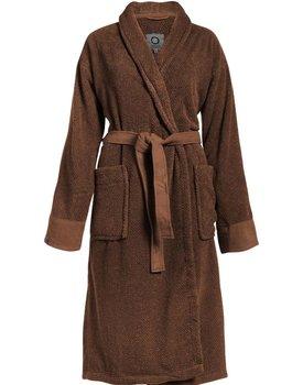Essenza Connect Organic Uni bathrobe XS Leather brown