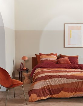 Beddinghouse William Dekbedovertrek  Rood 240 x 200/220 cm + 2x 60 x 70 cm