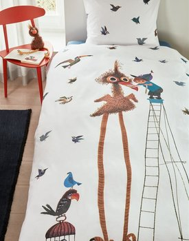 Beddinghouse x Fiep Amsterdam Fiepvogel Dekbedovertrek  Multi 140 x 200/220 cm + 1x 60 x 70 cm