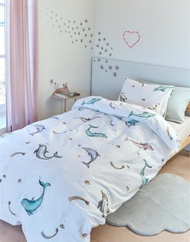 Beddinghouse Kids Magical Dolphins Dekbedovertrek  Multi 140 x 200/220 cm + 1x 60 x 70 cm