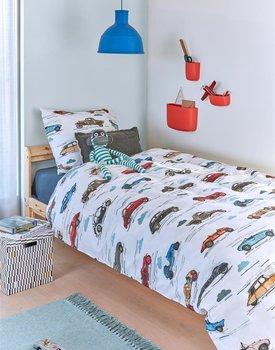 Beddinghouse Kids Oldtimers Dekbedovertrek  Multi 140 x 200/220 cm + 1x 60 x 70 cm