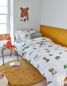 Beddinghouse Kids Forest Animals Dekbedovertrek  Multi 140 x 200/220 cm + 1x 60 x 70 cm