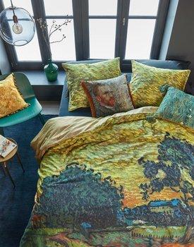 Beddinghoue x Van Gogh Museum Evening Twilight Dekbedovertrek  Oker 140 x 200/220 cm + 1x 60 x 70 cm