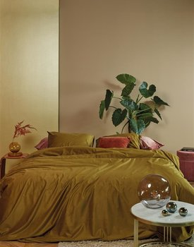 At Home by BeddingHouse Cosy Corduroy Dekbedovertrek  Oker 240 x 200/220 cm