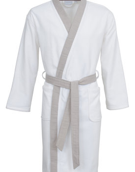 Carl Ross badjas 37110 white/platin XL