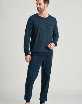 Schiesser heren pyjama lang 175637 olive