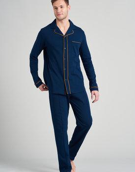 Schiesser heren pyjama lang 175638 nachtblauw