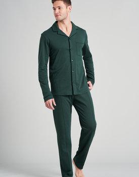 Schiesser heren pyjama lang 175638 donkergroen