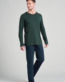 Schiesser heren pyjama lang 175639 dark green