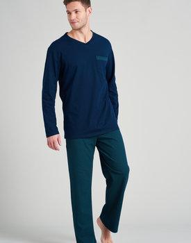 Schiesser heren pyjama lang 175677 groen