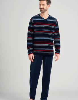 Schiesser heren pyjama lang 175607 nachtblauw