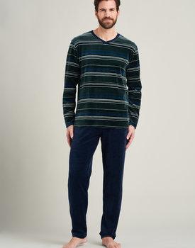 Schiesser heren pyjama lang 175607 groen