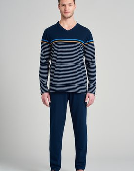 Schiesser heren pyjama lang 175693 royal blue