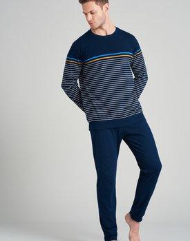 Schiesser heren pyjama lang 175694 royal blue