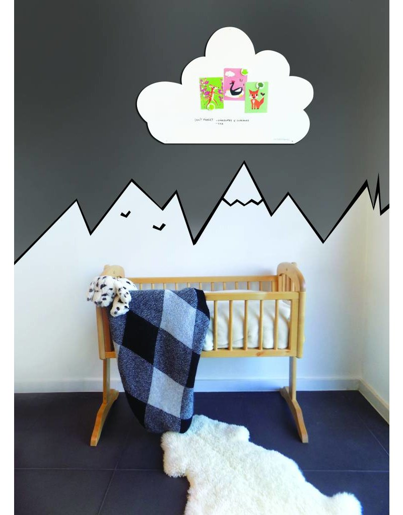 FAB5 Wonderwall Whiteboard Cloud 54 x 80 cm