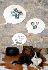 Wonderwall magneetbord én whiteboard tekstballon beschrijfbaar en magnetisch 67 x 80 cm