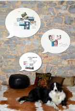 FAB5 Wonderwall whiteboard en magneetbord tekstballon 50x 60 cm
