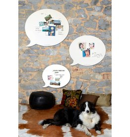 FAB5 Wonderwall WHITEBOARD EN MAGNEETBORD TEKSTBALLON Medium