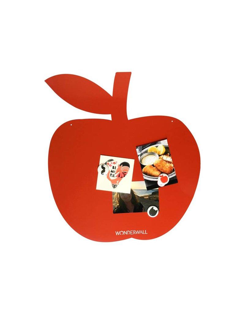 FAB5 Wonderwall Magneetbord Appel rood