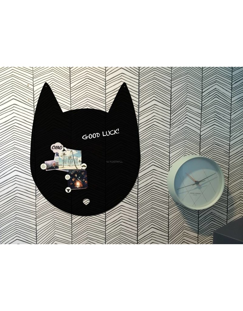 FAB5 Wonderwall Kat magneetbord  large 67 x 80 cm