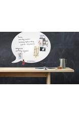 Wonderwall whiteboard en magneetbord tekstballon XL 95 x 80 cm