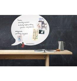 Wonderwall WHITEBOARD en MAGNEETBORD TEKSTBALLON XL