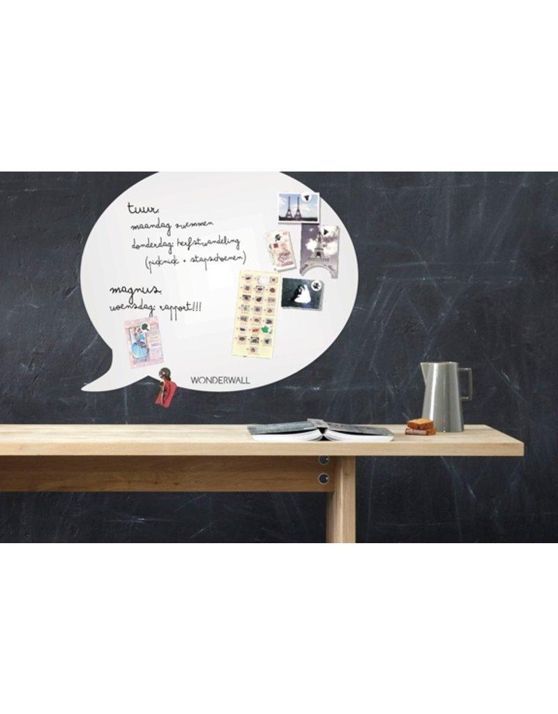 FAB5 Wonderwall whiteboard en magneetbord tekstballon XL 95 x 80 cm