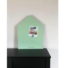 Magneetbord huis medium + kleur mint