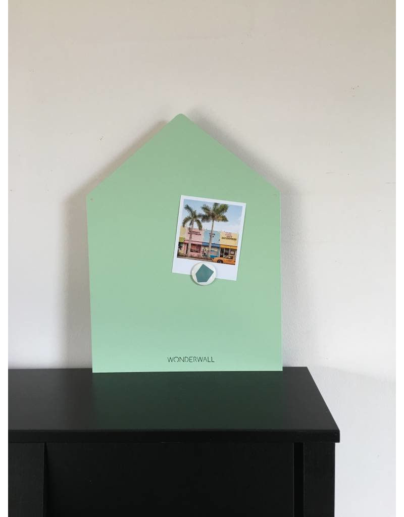 LIMITED EXCLUSIVE Magneetbord huis medium+  mat mint