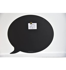 FAB5 Wonderwall Magneetbord TEKSTBALLON LARGE-  BLACK- Special collection