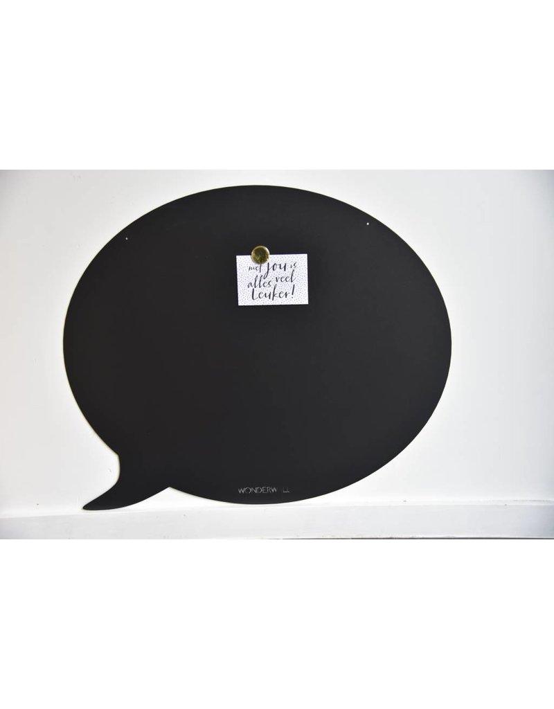 FAB5 Wonderwall    Magneetbord tekstballon zwart 67 x80 cm  Special collection