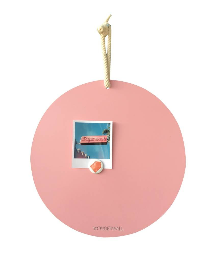NEW , TABLEAU MAGNETIQUE CIRCLE ROSE