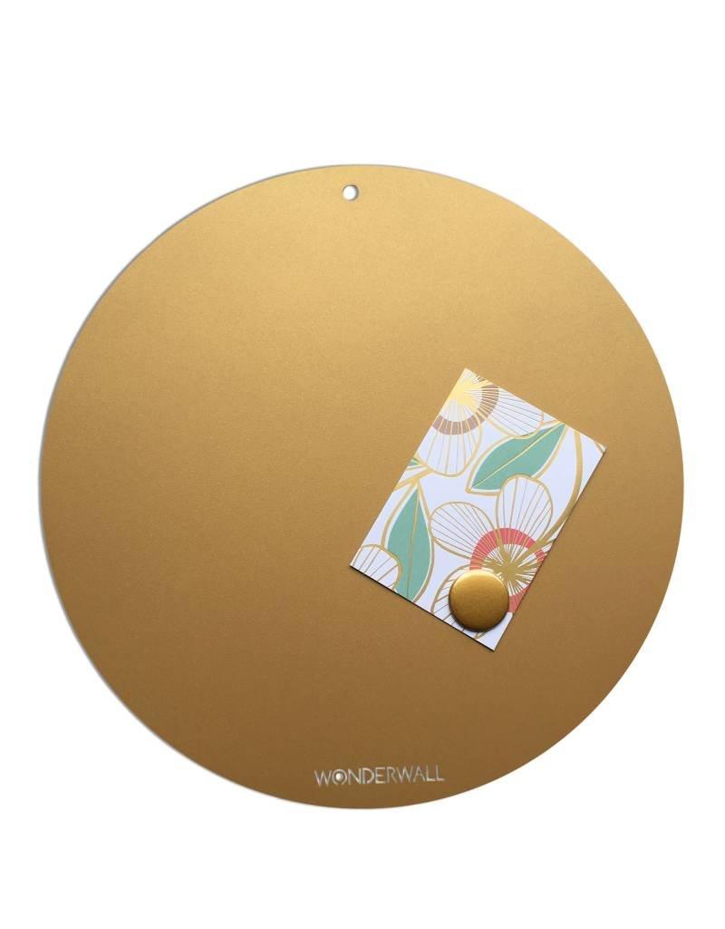Magneetbord CIRCLE OF LIFE  kleur GOUD 40cm diam.