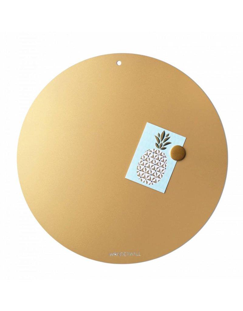 Magneetbord CIRCLE OF LIFE  kleur GOUD 50cm diam.