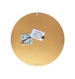 Magneetbord CIRCLE OF LIFE  GOLD 60cm diam.