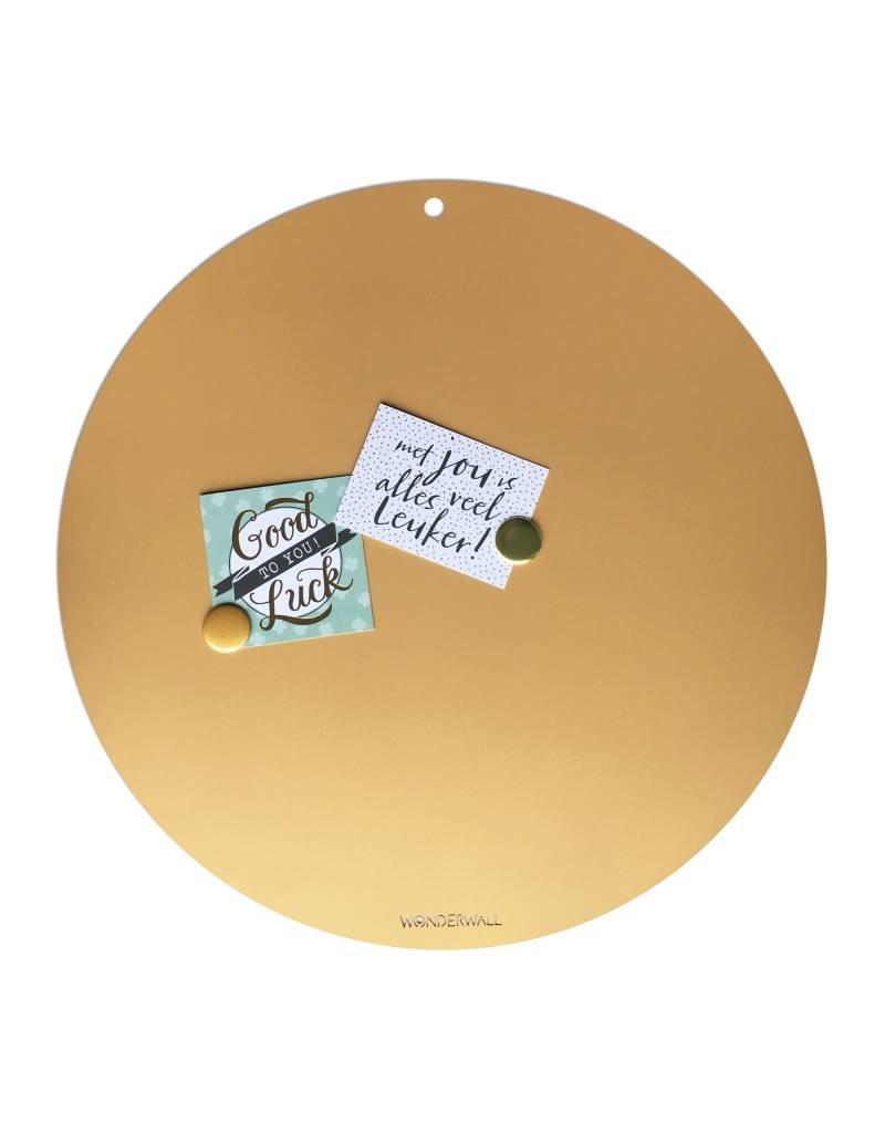 Magneetbord CIRCLE OF LIFE  kleur GOUD 60cm diam.