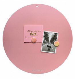 FAB5_Wonderwall NEW ROUND GOLD MAGNETIC BOARD  PINK - 50 cm