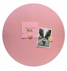 FAB5_Wonderwall NIEUW ROND MAGNEETBORD Roze - 50 cm