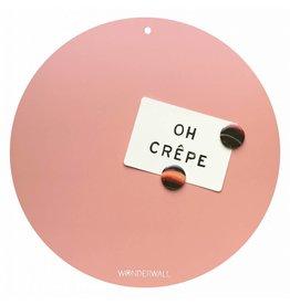 NEW , TABLEAU MAGNETIQUE CIRCLE ROSE 40cm